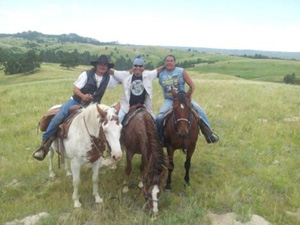 zum ersten Mal auf einem Pferd