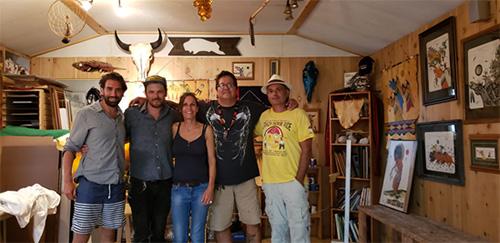 zu Besuch bei Evans Flammond und seiner Familie